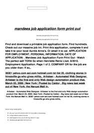 printable job application form templates fillable u0026 printable