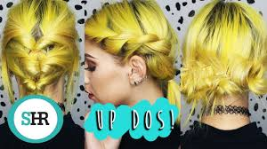 3 easy updo tutorials for short hair youtube