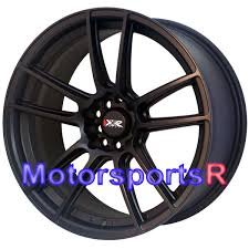 Black 98 Mustang Xxr 969 R Flat Black 18 Staggered Rims Wheels Concave 5x114 3 04
