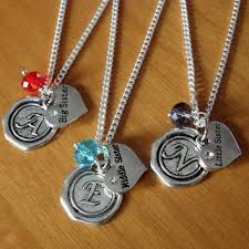 Name Charms For Necklaces Set Of 3 Sister Necklaces Big Sister From Summertreasure On Etsy