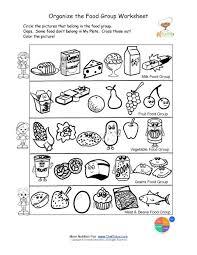 free food groups printable nutrition education worksheet kids