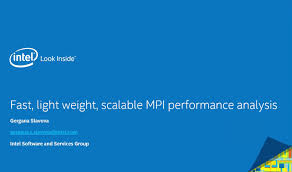 Fast Light Fast Lightweight Scalable Mpi Performance Analysis Intel Software