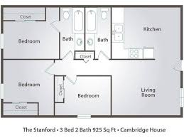 three bedroom floor plans 3 bedroom apartment floor plans pricing cambridge house davis ca