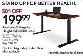 realspace magellan height adjustable desk office depot and officemax black friday realspace magellan height