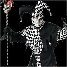 Halloween Costumes Jester Deluxe Evil Jester Halloween Costume Xl Mad Horror