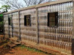 house made of 1200 plastic bottles beagley brown design