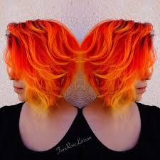 Cherry Bomb Hair Color Orange Yellow Hair Orange Yellow Hair Pinterest Yellow