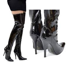 womens knee high heel stiletto thigh high zip boots