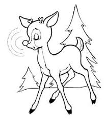 rudolph reindeer coloring holiday christmas winter