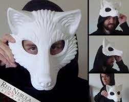 plain masquerade masks wolf mask etsy