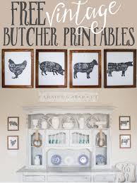 free kitchen printables farm animal butcher prints farm house