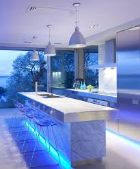 Led Lights For Under Kitchen Cabinets by Small White Kitchen Decoration Using White Led Light Under Kitchen