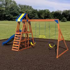 yukon iii wooden swing set playsets backyard discovery