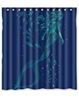 Vintage Mermaid Shower Curtain - amazon com custom mermaid and the sailing ship waterproof