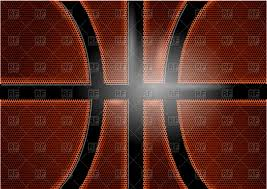 basketball background closed up view of ball vector clipart