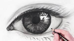 a sketch of an eye drawing art gallery
