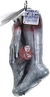 halloween decorations zombie amazon com forum novelties bag of limbs zombie multicolor kids