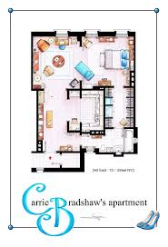 35 best tv floorplans images on pinterest architecture the this is a house plan based in the apartment of carrie bradshaw from the tv show