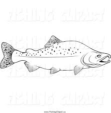 salmon fish coloring page salmon clipart outline pencil and in color salmon clipart outline