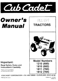 cub cadet lawn mower 1811 782 user guide manualsonline com