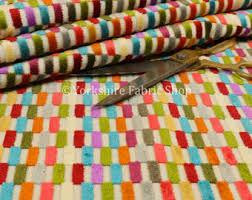 Colourful Upholstery Fabric Velvet Fabric Etsy