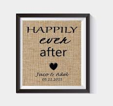 personalized bridal shower gifts happily after burlap print personalized bridal shower gift