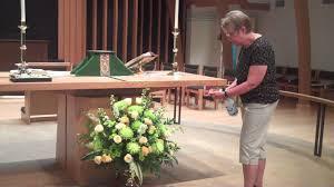 Church Flower Arrangements Altar Flower Arrangement In Place Youtube