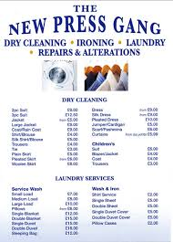 Barnes Dry Cleaners Our Dry Cleaning Prices East Molesley U0026 Barnes