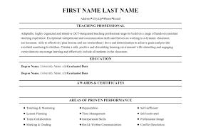 teacher professional resume format 2017 tem saneme