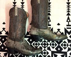 womens cowboy boots size 11 1 2 vintage cowboy boots leather cowboy boots womens cowboy