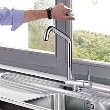 robinet pour evier cuisine homelody robinet de cuisine mitigeur rabattable bec rotatif