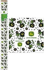 deere wrapping paper deere 1 6 yard tractor roll gift wrap home kitchen