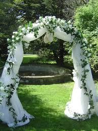 wedding arches decorated with tulle wedding arch white and royal blue tool and glitter i lo e this