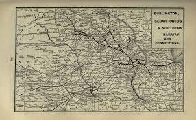 Map Of Cedar Falls Iowa Burlington Cedar Rapids And Northern Railway Wikipedia