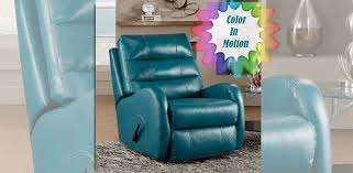 Blue Reclining Sofa by Southern Motion Inc