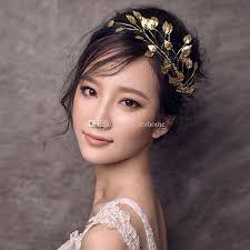 hair decoration gold leaf headband for women girl fashion jewelry wedding hair
