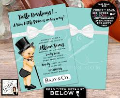 bow tie baby shower invitations breakfast at s baby shower invitation baby and