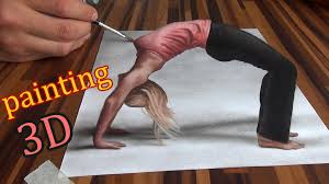 easy 3d paintings on paper 3d drawing of an optical illusion sd painting