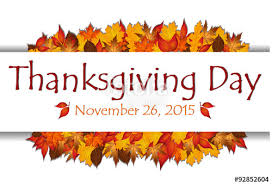 thanksgiving day banner with date and autumn leaves vector stock