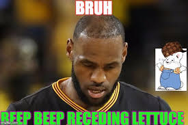 Lebron James Hairline Meme - dat hairline dough a a 12345678910 imgflip