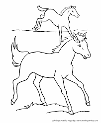 horse coloring pages printable horses run pasture