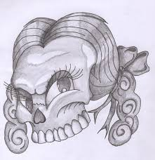 girly skull tattoo design skull tattoos girly skull tattoo