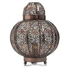 wilko beaded global plated lamp bronze at wilko com