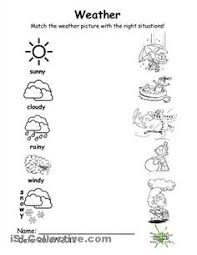 Kindergarten Weather Worksheets Weather Vocabulary For Learning Printable Resources