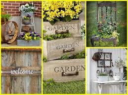Easy Diy Garden Decorations Diy Vintage And Rustic Garden Decor Ideas Diy Summer Decorating