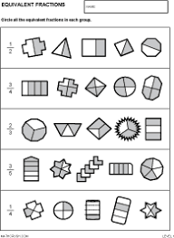 collections of free printable equivalent fractions worksheets