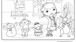 stylish doc mcstuffin coloring pages intended encourage