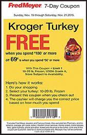 fred meyer free turkey with purchase of 150 or more free