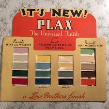 original colour chart from early 1950 u0027s fabulous fifties retro