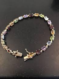 colored tennis bracelet images Adi 925 sterling silver gold overlay cz multi color tennis jpg